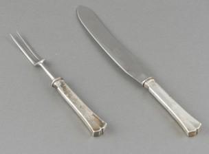 Paistihaarukka ja -veitsi