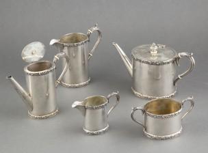 Kahvi- ja teekalusto, 5 osaa
