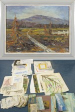 A.Ahola ja erä maalauksia