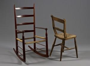 Keinutuoli ja tuoli