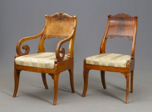 Nojatuoli ja tuoli