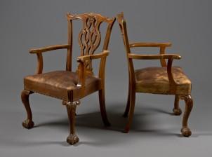Nojatuoleja, 2 kpl ja tuoleja, 2 kpl