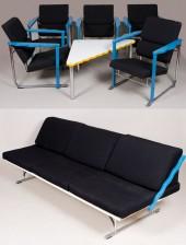 Tuoleja, 5 kpl, sohva ja sohvapöytä