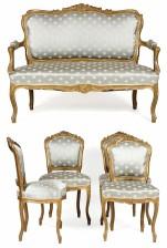 Sohava ja tuoleja 4 kpl
