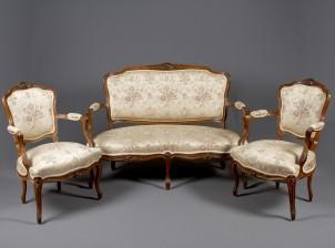 Sohva ja nojatuolipari