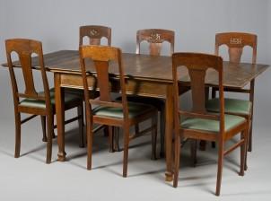 Tuoleja, 6 kpl ja ruokapöytä