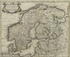 Tanskan, Norjan ja Ruotsin kartta