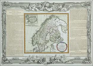 Ruotsin ja Norjan kartta