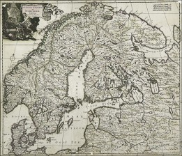Ruotsin, Tanskan ja Norjan kartta