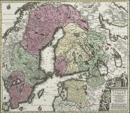 Ruotsin ja Ruotsi-Suomen kartta