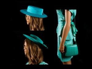 Hattuja, 2 kpl ja laukku