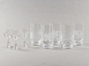 Savoy kristallilaseja, 5 kpl ja sherrylaseja, 3 kpl
