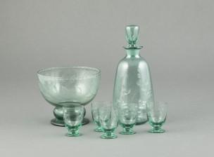 Karahvi, 5 lasia ja kulho