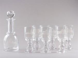 Karahvi ja laseja, 6 kpl