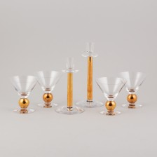 Laseja, 4 kpl ja kynttilänjalkapari