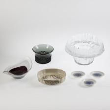 Erä lasia ja keramiikkaa, 7 kpl