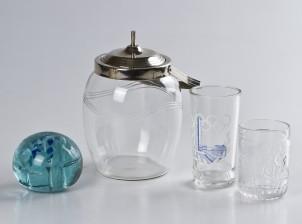 Laseja, 2 kpl, jääpalakulho ja paperipaino