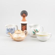 Kannuja, 4 kpl ja figuriini