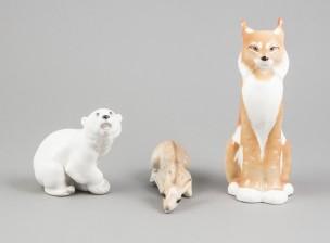Figuriinejä, 3 kpl (ilves, jääkarhu, vasa)