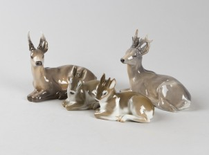 Figuriinejä, 4 kpl, Kauriit