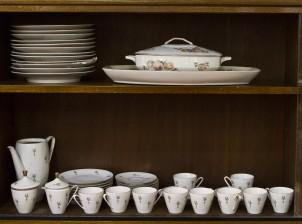 Kahvi- ja ruoka-astiaston osia