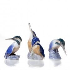 Figuriinejä, 3kpl, Kuningaskalastajia