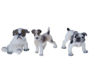 Figuriinejä, 3 kpl, Koiria