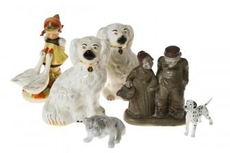 Figuriinejä, 4 kpl, Koiria