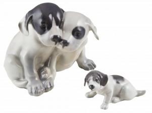 Figuriinejä, koiranpentuja, 2 kpl