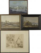 Painokuvia, 3 kpl ja maalaus