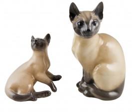 Figuriinejä, siamilais-kissat, 2 kpl