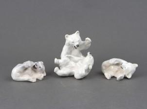 Figuriinejä, 3 kpl, Jääkarhuja