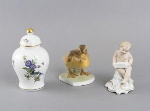 Meissen ja figuriineja, 2 kpl