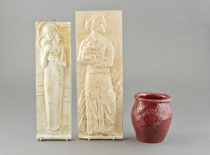 Reliefejä, 2 kpl ja ruukku