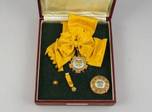 Kunniamerkki. rintatähti ja miniatyyri
