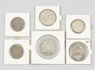 Venäläisiä hopearahoja, 6 kpl