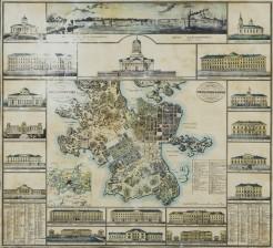 Helsinki-kartta rakennuksineen