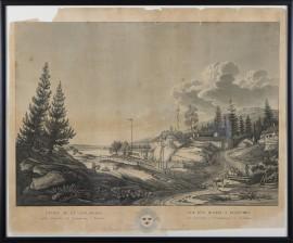 Utsigt af en såg-qvarn