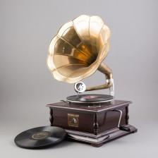 Torvigramofoni ja levyjä