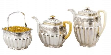 Tee- ja kahvikalusto, 4 osaa