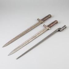 Winchester pistimiä, 2 kpl ja rotanhäntäpistin m/30