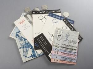 Olympia esineitä ja rahoja