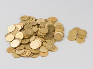 Erä 5 mk kolikoita