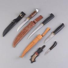 Puukkoja ja veitsiä, 4 kpl