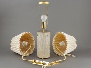 Lampettipari ja pöytälamppu