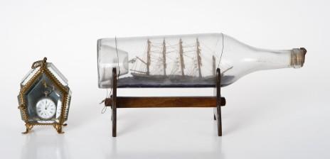 Laivapullo, taskukello ja kelloteline