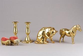 Figuriinejä, 2 kpl, neulatyynypari ja kynttilänjalkapari