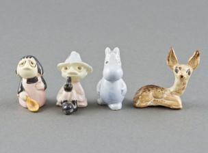 Muumi figuriineja, 3 kpl ja figuriini