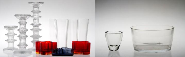 Alvar Aalto, 4 kpl ja lasiesineitä, 5 kpl