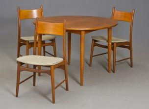 Pöytä ja tuoleja, 3 kpl